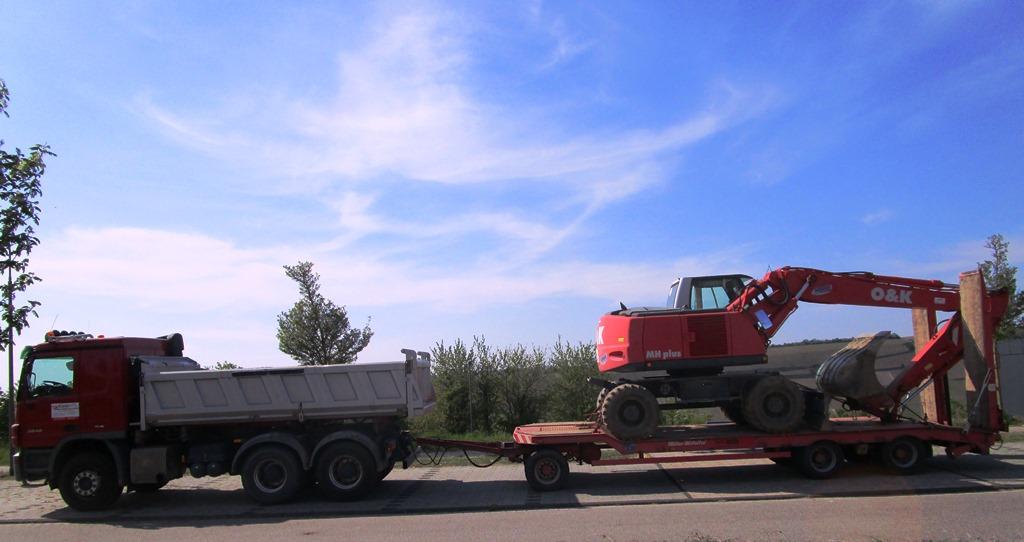 LKW-Kipper mit Tieflader 24 t