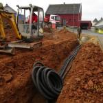 Verlegen von Kanal- und Hausanschlussleitungen