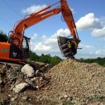 Recycling von Bauschutt